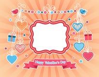Ημέρα του ευτυχούς βαλεντίνου - ευχετήρια κάρτα Στοκ φωτογραφία με δικαίωμα ελεύθερης χρήσης