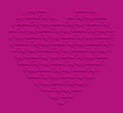 Ημέρα του ευτυχούς βαλεντίνου! κάρτα Στοκ εικόνα με δικαίωμα ελεύθερης χρήσης
