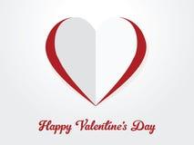 Ημέρα του ευτυχούς βαλεντίνου, καρδιά εγγράφου που αποκόπτει Στοκ φωτογραφία με δικαίωμα ελεύθερης χρήσης