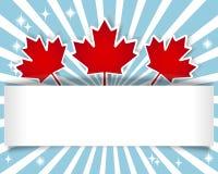 ημέρα του Καναδά εμβλημάτων στοκ φωτογραφία με δικαίωμα ελεύθερης χρήσης