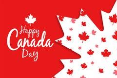 ημέρα του Καναδά ευτυχής Στοκ εικόνες με δικαίωμα ελεύθερης χρήσης