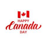 ημέρα του Καναδά ευτυχής Ευτυχής τυπογραφία ημέρας του Καναδά Στοκ φωτογραφίες με δικαίωμα ελεύθερης χρήσης