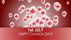 ημέρα του Καναδά ευτυχής ελεύθερη απεικόνιση δικαιώματος