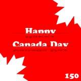 ημέρα του Καναδά ευτυχής Στοκ Εικόνα