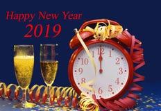 Ημέρα 2019 του νέου έτους εορτασμοί στοκ εικόνα