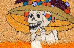 Ημέρα του νεκρού μεξικάνικου catrina Στοκ Φωτογραφίες
