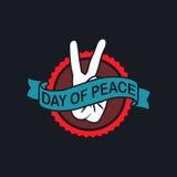 Ημέρα του λογότυπου ειρήνης Στοκ Εικόνες