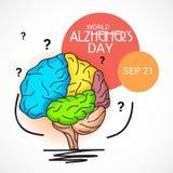 Ημέρα του παγκόσμιου Alzheimer ` s Απεικόνιση αποθεμάτων