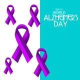 Ημέρα του παγκόσμιου Alzheimer ` s Στοκ εικόνες με δικαίωμα ελεύθερης χρήσης