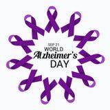 Ημέρα του παγκόσμιου Alzheimer ` s Στοκ φωτογραφία με δικαίωμα ελεύθερης χρήσης