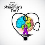 Ημέρα του παγκόσμιου Alzheimer ` s Ελεύθερη απεικόνιση δικαιώματος