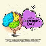 Ημέρα του παγκόσμιου Alzheimer ` s Διανυσματική απεικόνιση