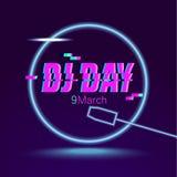 Ημέρα του παγκόσμιου DJ ελεύθερη απεικόνιση δικαιώματος