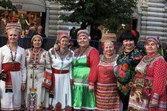 Ημέρα του σλαβικών γραψίματος και του πολιτισμού στην κόκκινη πλατεία στη Μόσχα Στοκ Φωτογραφίες