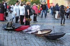 Ημέρα του σλαβικών γραψίματος και του πολιτισμού στην κόκκινη πλατεία στη Μόσχα Στοκ Φωτογραφία