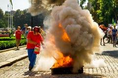 Ημέρα του φυσικού πολιτισμού και του αθλητισμού σε Uzhgorod Στοκ φωτογραφίες με δικαίωμα ελεύθερης χρήσης