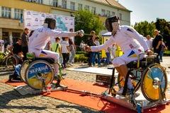 Ημέρα του φυσικού πολιτισμού και του αθλητισμού σε Uzhgorod Στοκ φωτογραφία με δικαίωμα ελεύθερης χρήσης