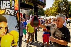 Ημέρα του φυσικού πολιτισμού και του αθλητισμού σε Uzhgorod Στοκ Εικόνες