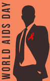Ημέρα του AIDS, και μνημείο Στοκ εικόνες με δικαίωμα ελεύθερης χρήσης