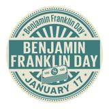 Ημέρα του Benjamin Franklin, στις 17 Ιανουαρίου απεικόνιση αποθεμάτων