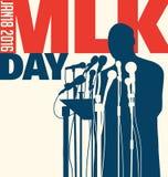 Ημέρα του Martin Luther King, στις 18 Ιανουαρίου 2016 Στοκ Εικόνες