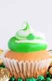 Ημέρα του ST Πάτρικ cupcake Στοκ Φωτογραφία
