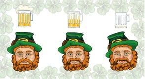 Ημέρα του ST Πάτρικ leprechaun και μπύρα Στοκ φωτογραφίες με δικαίωμα ελεύθερης χρήσης