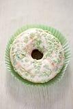 Ημέρα του ST Πάτρικ ` s που βερνικώνεται donuts Στοκ εικόνα με δικαίωμα ελεύθερης χρήσης