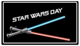 Ημέρα του Star Wars εμβλημάτων Στοκ Εικόνες
