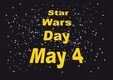 Ημέρα του Star Wars ελεύθερη απεικόνιση δικαιώματος