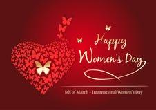 Ημέρα των ευτυχών γυναικών 8 Μαρτίου Σχέδιο ημέρας γυναικών Στοκ φωτογραφίες με δικαίωμα ελεύθερης χρήσης