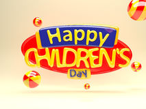 Ημέρα των ευτυχών παιδιών Στοκ Φωτογραφίες