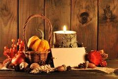 Ημέρα των ευχαριστιών με την κάρτα στοκ φωτογραφία με δικαίωμα ελεύθερης χρήσης