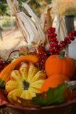 ημέρα των ευχαριστιών συγκομιδών πτώσης καλαθιών Στοκ Εικόνες