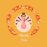 Ημέρα των ευχαριστιών  χαιρετισμού Ñ ard Στοκ εικόνα με δικαίωμα ελεύθερης χρήσης