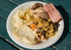 ημέρα των ευχαριστιών 2 γευμάτων Στοκ Εικόνες