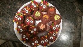 Ημέρα των ευχαριστιών cupcakes Στοκ εικόνα με δικαίωμα ελεύθερης χρήσης