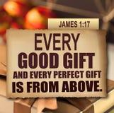 Ημέρα των ευχαριστιών James 1:17 Στοκ Φωτογραφίες