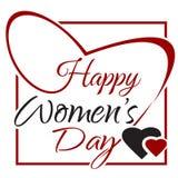 Ημέρα των διεθνών γυναικών 8 Μαρτίου γράφοντας κάρτα Στοκ φωτογραφία με δικαίωμα ελεύθερης χρήσης