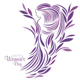 Ημέρα των διεθνών γυναικών ελεύθερη απεικόνιση δικαιώματος