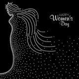 Ημέρα των διεθνών γυναικών διανυσματική απεικόνιση