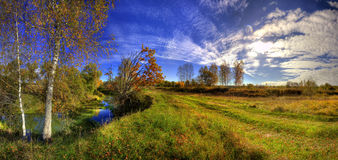 ημέρα φθινοπώρου ηλιόλου& Στοκ Εικόνα