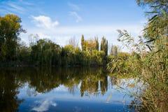 Ημέρα φθινοπώρου στον ποταμό στοκ εικόνες
