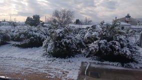 Ημέρα χειμερινού χιονιού στην Αργολίδα Στοκ εικόνα με δικαίωμα ελεύθερης χρήσης
