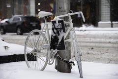Ημέρα χιονιού στο Τορόντο Στοκ Φωτογραφία