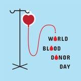 Ημέρα χορηγών παγκόσμιου αίματος Διανυσματική απεικόνιση στο επίπεδο ύφος Στοκ Φωτογραφία