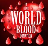 Ημέρα χορηγών παγκόσμιου αίματος ελεύθερη απεικόνιση δικαιώματος