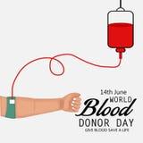 Ημέρα χορηγών παγκόσμιου αίματος Στοκ εικόνες με δικαίωμα ελεύθερης χρήσης