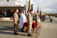 Ημέρα όρκου στο στρατό της Κύπρου Στοκ εικόνες με δικαίωμα ελεύθερης χρήσης