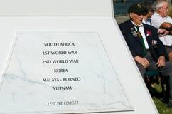 Ημέρα Anzac - πολεμικό επιμνημόσυνη δέηση Στοκ φωτογραφίες με δικαίωμα ελεύθερης χρήσης